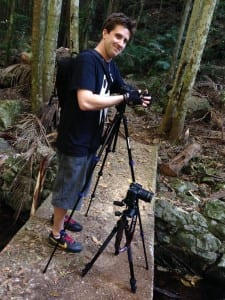 My buddy Ty, setting up for his next shot further downstream.