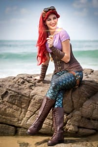 Ariel the little Steampunk Mermaid Cosplay. The Artful Dodger and The Blake Image Photography